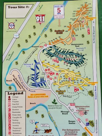 Russian River Map Picture of Russian River RV Campground
