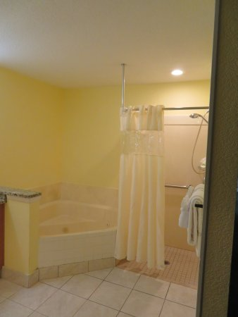 Blue Tree Resort at Lake Buena Vista: Another angle on the bathroom, as viewed from the master bedroom. No door.