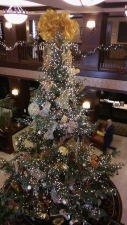 Hotel Julien Dubuque: Lobby Christmas tree.