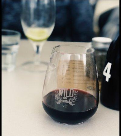 My delicious glass of Syrah, a Waiheke Island delight