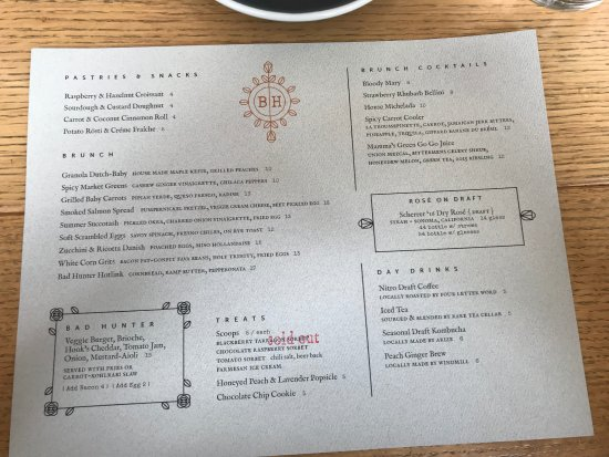 Brunch Menu - Picture of Bad Hunter, Chicago - TripAdvisor