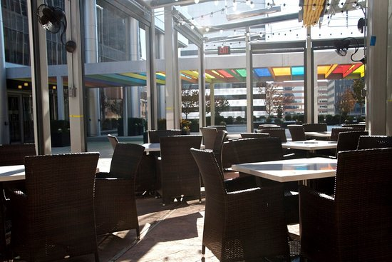 The atmosphere on our patio is one of the best in Clayton!