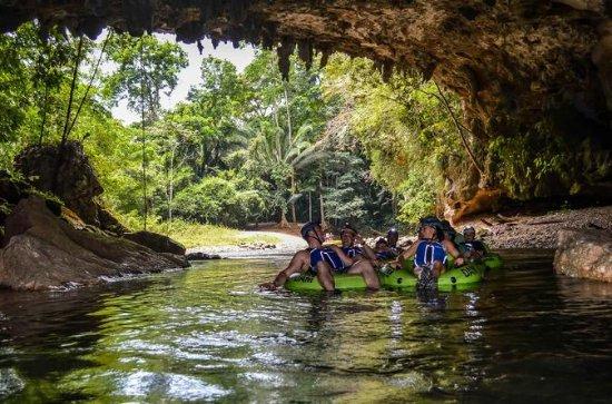 Cave Tubing und Treetop Zipline...