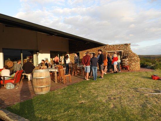 Malagas, Sudáfrica: The tasting room/ cellar