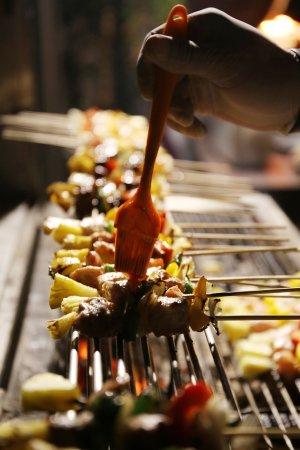 Chongfah Beach Resort: Kebabs BBQ 🍢 Asian buffet  Every Tuesday night