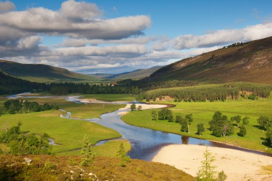Aberdeenshire, UK: River Dee near Mar Lodge