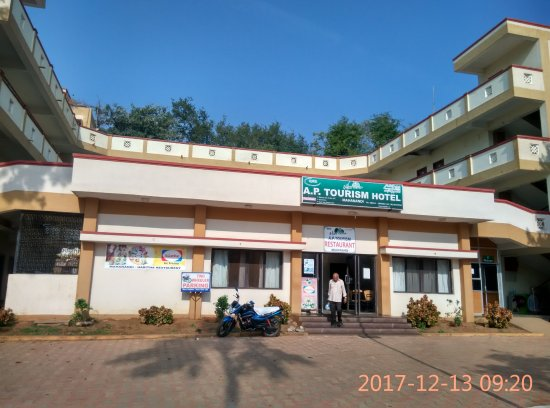 Mahanandi Temple: Haritha, AP Tourism Hotel at Mahanandi. One can book the rooms online.