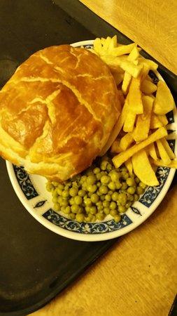 The Blue Peter Hotel: steak & ale pie chips 'n' peas