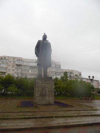 Magadan, Rusland: lenin statue