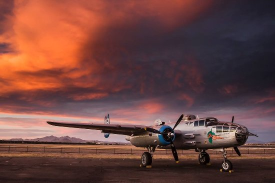 "Mesa, AZ: Arizona Commemorative Air Force Museum's B-25 Bomber ""Maid in the Shade."""
