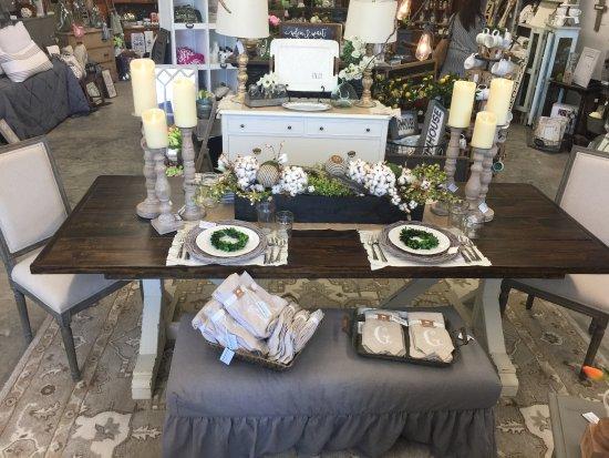 Farm house table built by Chic Artique.