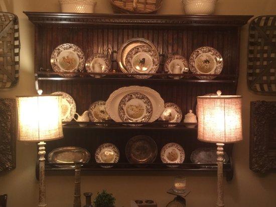 A plate rack built by Chic Artique.