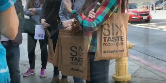 Six Taste: Starting off our tour.