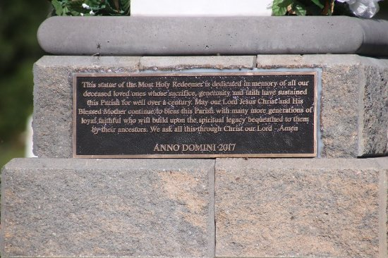 Holy Redeemer Parish: A plaque