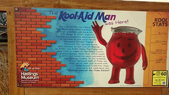 Hastings, NE: Kool-Aid Man