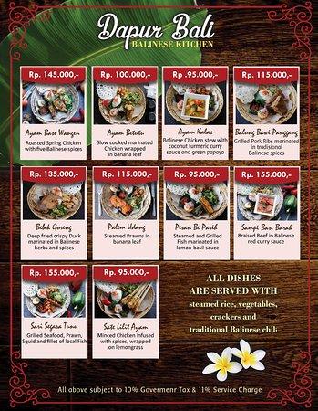 Dapur Bali Food Menu Picture Of The Dauh Restaurant