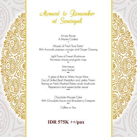 the dauh restaurant new years eve dinner 2017