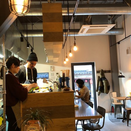 Small Burger Shop, Clean and Cosy Environment