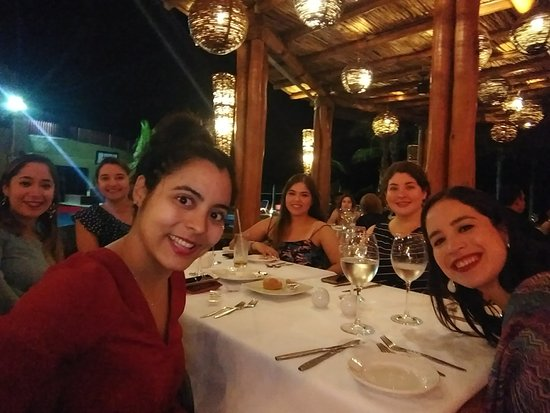 Royal Decameron Los Cabos: With my friends at the Luna restaurant, the best food in the resort