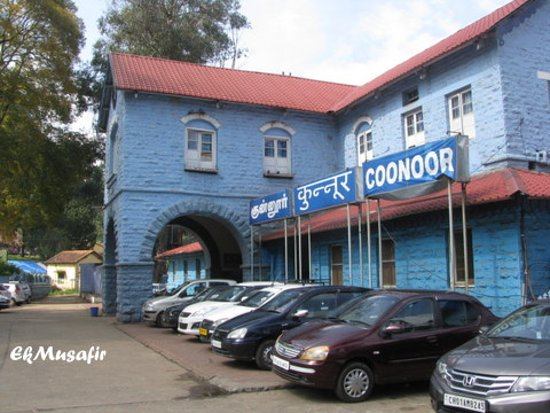 Heritage Train: Coonoor Station parking lot.