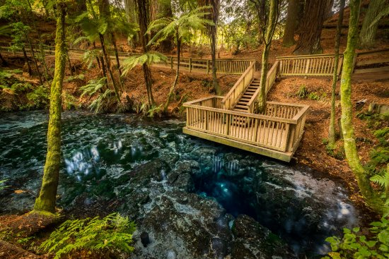 Hamurana, Nowa Zelandia: Te Puna a Hangarua - The deepest natural freshwater spring in the north island of New Zealand