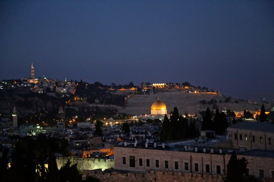 View From Rooftop Cheese And Wine Restaurant Bild Von Notre Dame Guest House Jerusalem