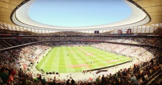 Cape Town Stadium with the HSB...