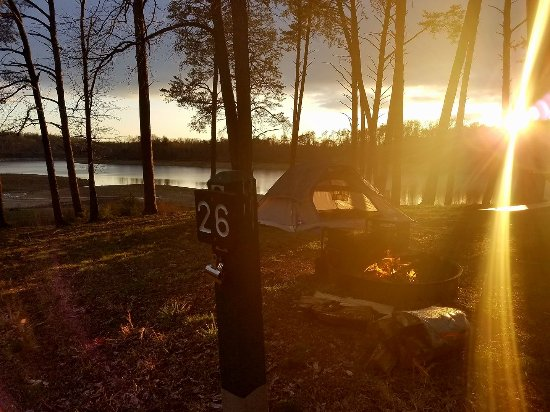 Mammoth Cave, KY: Waterfront camping at primitive site 26