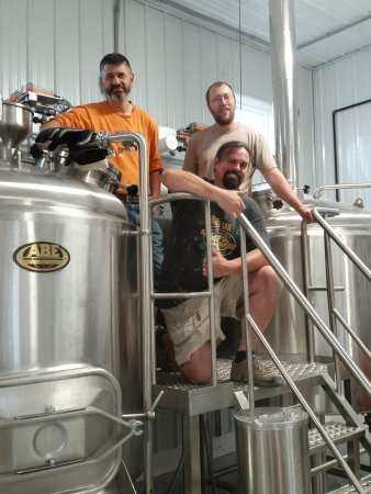 Calmar, IA: We got a tour of the brew house and got to meet the friendly & knowledgeable owner and brewers.