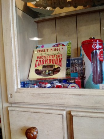 The Whistle Stop at The American Cafe': Display in china cabinet