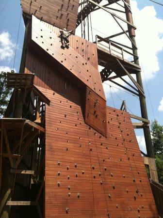Whitesburg, GA: Climbing wall at Banning Mills