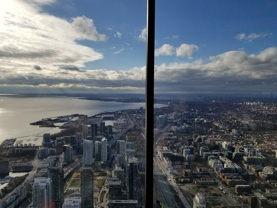 Edge Walk at the CN Tower: Near the top of CN Tower