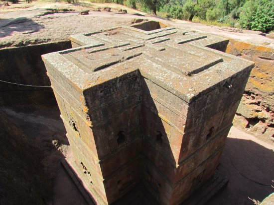 Simien Mountain Trekking and Tours: Church of St George, Lalibella, Ethiopa