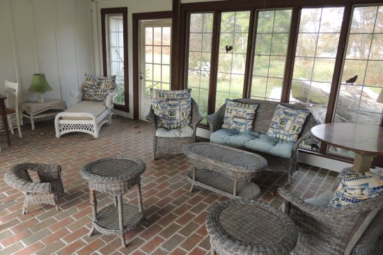 Rochester, VT: Patio at Harvest Home