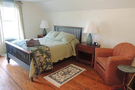 Rochester, VT: Bedroom at Harvest Home