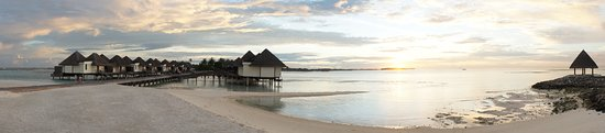 Huraa Island: Sunsetting by the water villas and the Italian Restaurant
