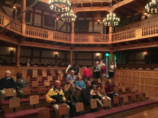 Staunton, VA: View of the entering audience from my stage seat