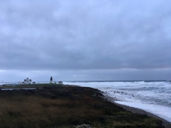 Point Judith Lighthouse: 2017 winter storm
