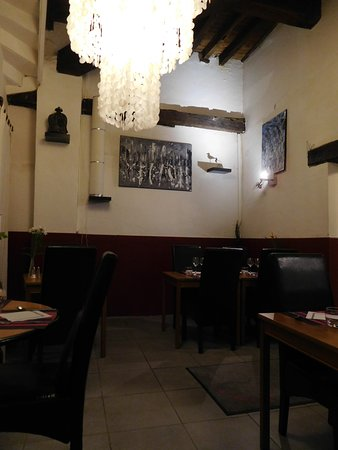Le Papillon: inside the restaurant