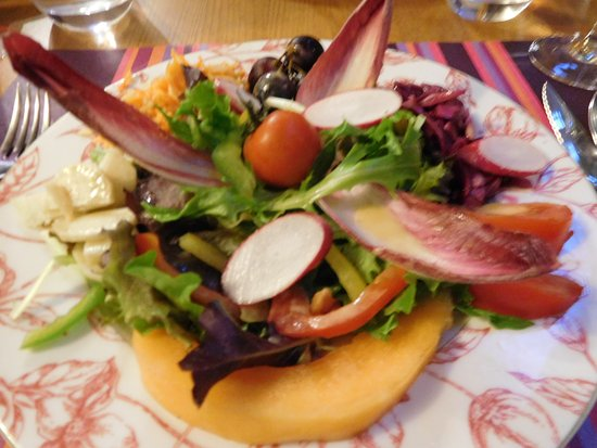 Le Papillon: one of the salads