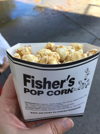 Fisher's Popcorn: They sell single servings which is very convenient when others want ice cream instead.