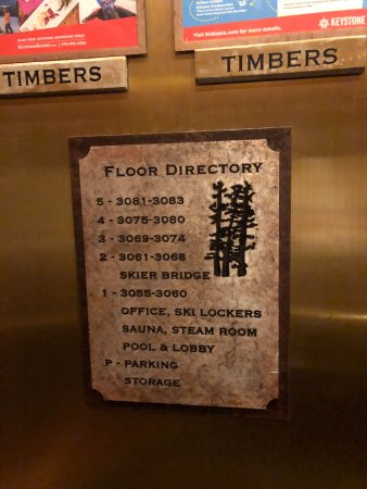 Timbers at Lone Eagle Condos: floor directory, room numbers don't map to floors