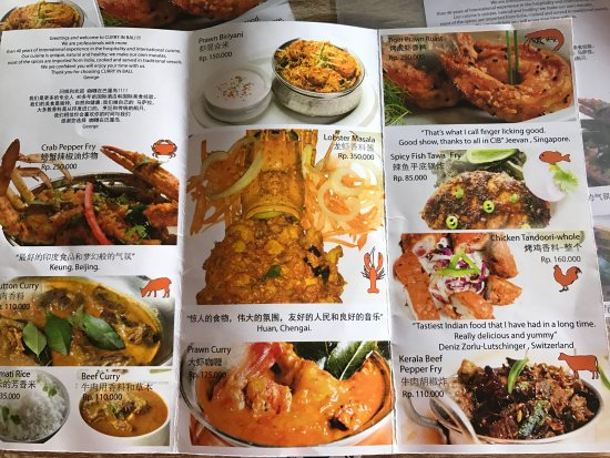 Curry in Bali - Golf View: Menu shaping up