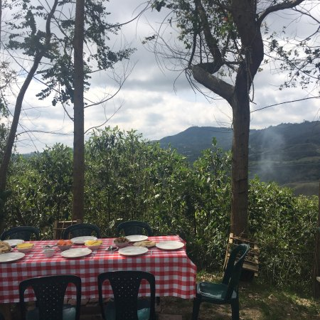 Van Por Colombia: Breakfast with a breathtaking view and sumptuous meal prepared by chef Rafael himself for lunch