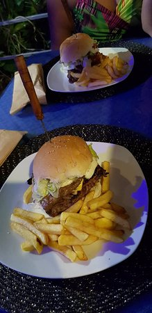 Cafe International: Two of the burgers of the menu list