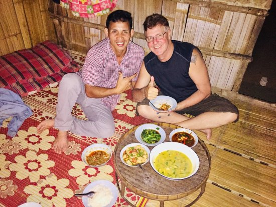 Chiang Mai Elephant Sanctuary: My host for the evening with a beautiful home-cooked meal
