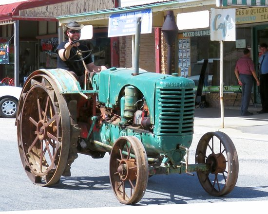 Rushworth Museum: Old tractor being driven down main street (3rd Sat of each month)