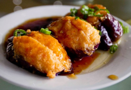 Royal Seafood Restaurant: My other favourite - egg plant with fish fillings.