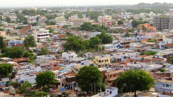 Bhongir Fort: the view as u reach upward