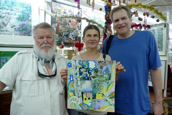 Michael Adams Paintings Studio: Michael Adams Studio Seychelles